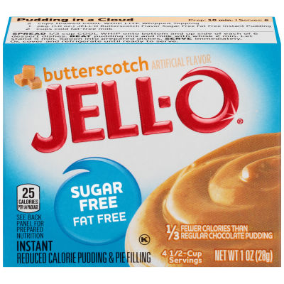 Jell-O Instant Sugar-Free Fat-Free Butterscotch Pudding & Pie Filling 1 oz Box