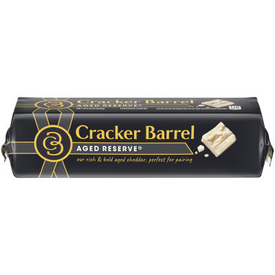 Cracker Barrel Aged Reserve Cheddar Cheese 8 oz Wrapper