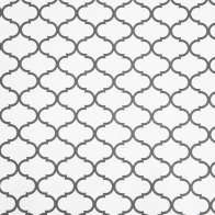 Swatch for EasyLiner® Adhesive Prints Shelf Liner - Gray Quatrefoil, 20 in. x 15 ft.
