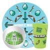Minecraft Kid's Dinnerware Set, Favorite Minecraft Characters, 3-piece set slideshow image 2