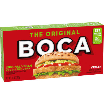 BOCA Original Vegan Veggie Burgers 4ct 10.0 oz