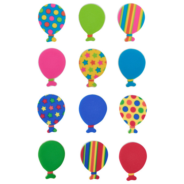 Bright Primary Balloons Sweet Décor™ Printed Edible Decorations