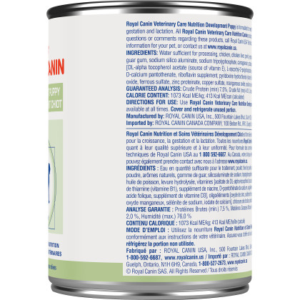Royal Canin Veterinary Diet Canine Development Puppy Canned Dog Food