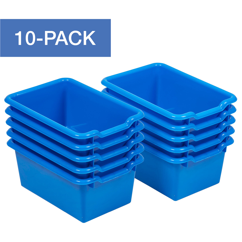 ECR4Kids Scoop Front Plastic Storage Bins for Toys, Cubbie C
