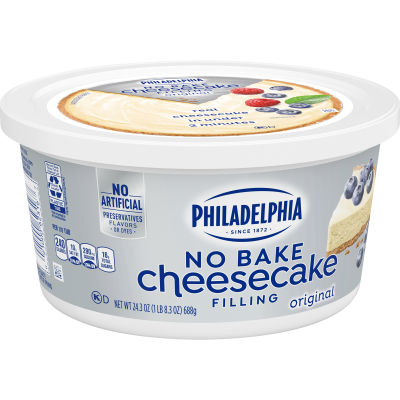 Philadelphia No Bake Original Cheesecake Filling, 24.3 oz Tub