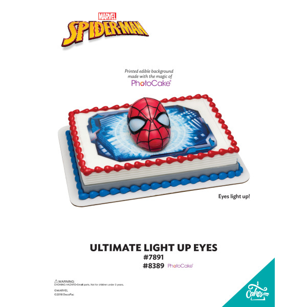 SPIDER-MAN ULT LIGHT UP EYES-BGO TMOC PAGE The Magic of Cakes® Page
