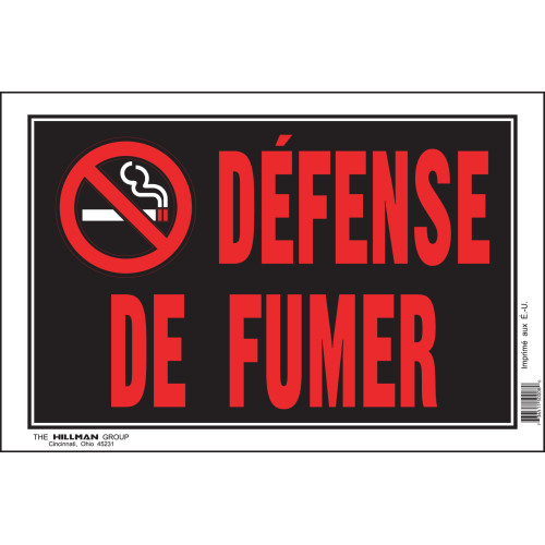 French No Smoking Sign with Symbol (8