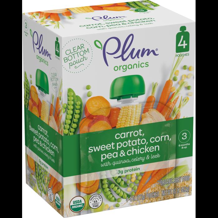 Carrot, Sweet Potato, Corn, Pea & Chicken ( Pack of 4)