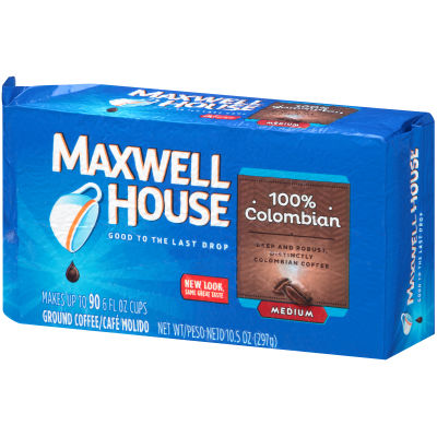 Maxwell House 100% Colombian Ground Coffee 10.5 oz Brick