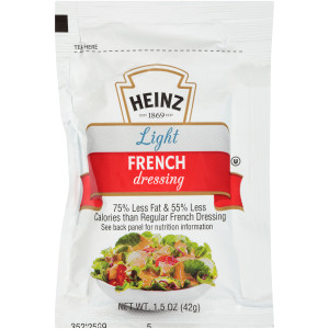 HEINZ Single Serve Light French Salad Dressing Packet, 1.5 oz. Packets (Pack of 60) image