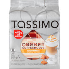 Corner Coffeehouse Sweet Caramel Latte T-Disc for Tassimo Brewing System, 16 count