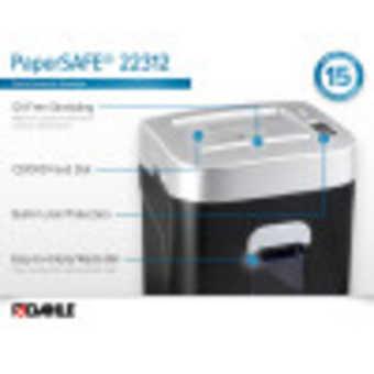 Dahle PaperSAFE® 22312 Paper Shredder InfoGraphic