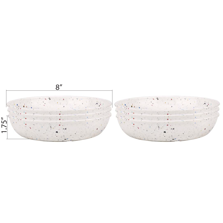 Confetti 35 ounce Pasta Bowl, Eggshell White, 6-piece set slideshow image 19