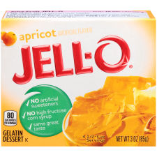 Jell-O Apricot Gelatin Mix 3 oz Box
