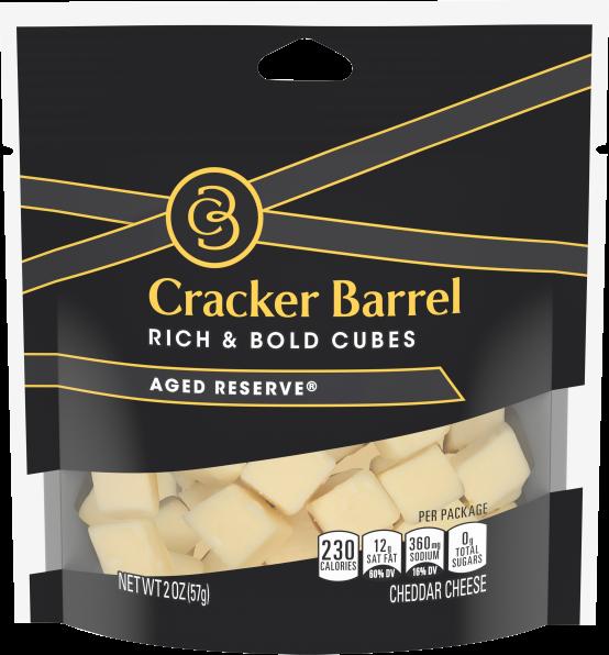 Cracker Barrel Cubes, Aged Reserve Cheddar, 2oz Bag