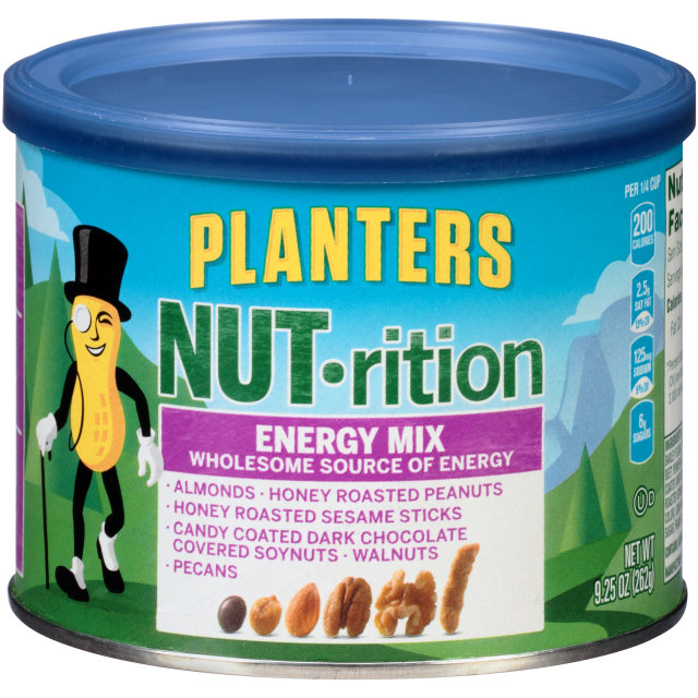 PLANTERS NUT-rition Energy Mix 9.25 oz Can image