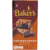 Baker's Premium Unsweetened Chocolate Baking Bar 4 oz Box