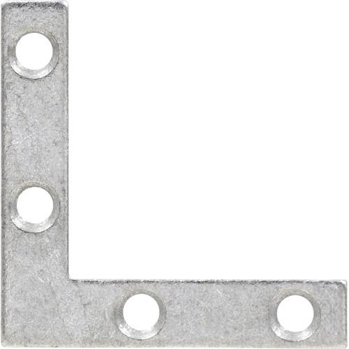 Hardware Essentials Flat Corner Iron Galvanized 2