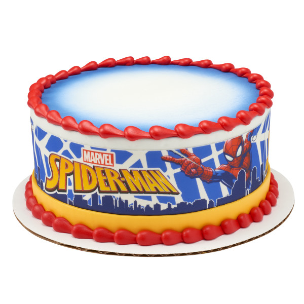 Marvels Spider-Man™ In Action PhotoCake® Edible Image® Strips