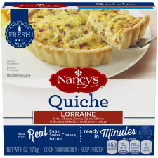 Nancy's Lorraine Quiche 6 oz Box