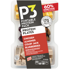 Oscar Mayer P3 Chicken, Colby Jack, Almonds & Blueberries Portable Protein Pack Tray, 3.2 oz