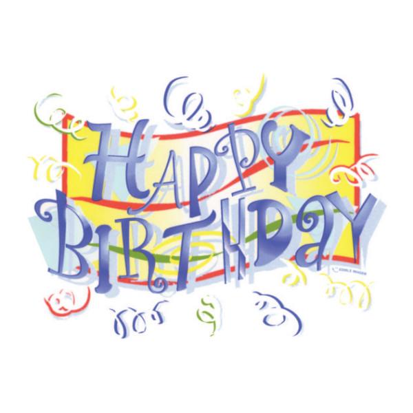Festive Happy Birthday Edible Image 174 Decopac