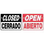 "Spanish / English Open / Closed Sign (19"" x 15"")"