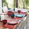 Confetti Dinner Plate, Salad Plate and Bowl Dinnerware Set, Peacock, 12-piece set slideshow image 6