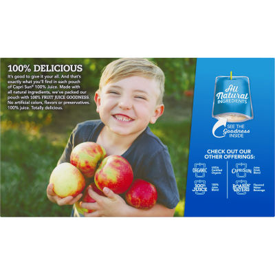 Capri Sun 100% Juice Apple Ready-to-Drink Soft Drink 10 - 6 fl oz Pouches