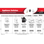 Appliance Switches Assortment (Plunger & Rocker Switches for Refrigerators)