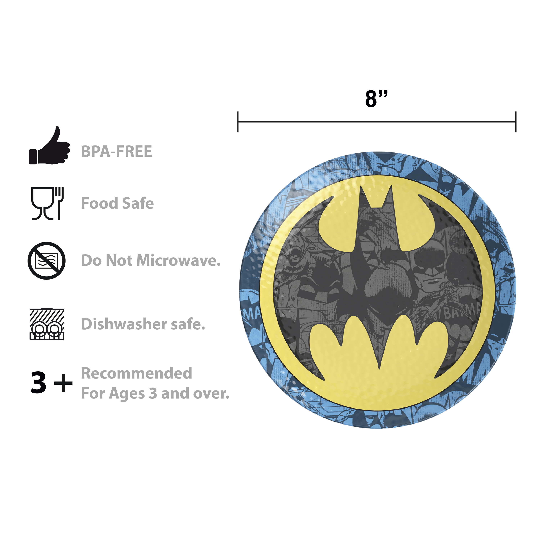 DC Comics Plate, Bowl and Tumbler Set, Batman, 3-piece set slideshow image 8