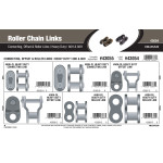 Heavy Duty Roller Chain Links Assortment (60H & 80H)