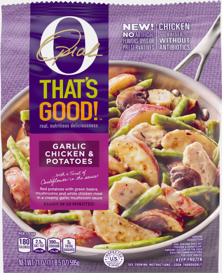 O, That's Good! Frozen Skillet Meals, Garlic Chicken and Potatoes, 21 oz