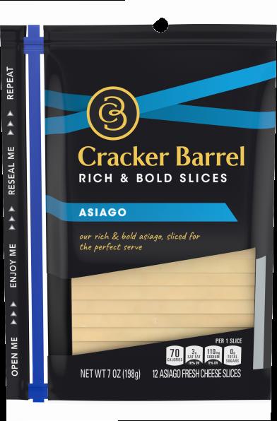 Cracker Barrel Asiago Cheese 12 slices - 7 oz