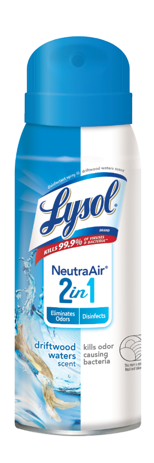 Lysol Disinfectant Spray, Neutra Air 2 in 1, Driftwood Waters, 10 oz