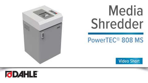 Dahle PowerTEC® 808 MS Media Shredder Video Short
