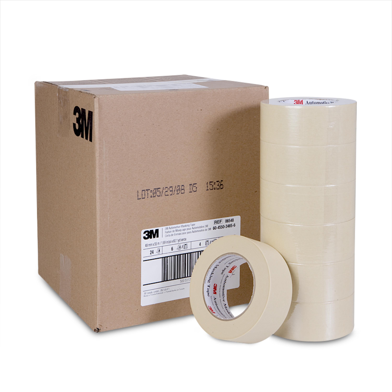 3M™ Automotive Masking Tape, 06548, 48 mm x 55 m, 24 per case