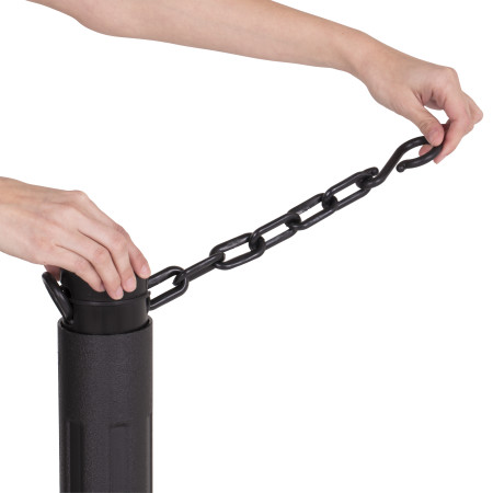 ChainBoss Stanchion - Black Empty with Black Chain 17
