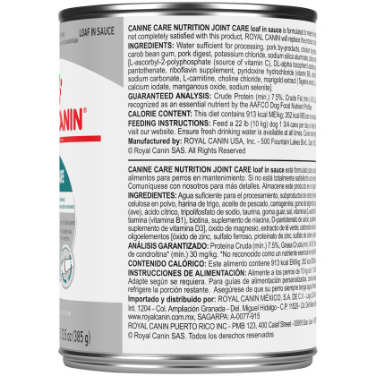 Royal Canin Canine Care Nutrition Joint Care Canned Dog Food