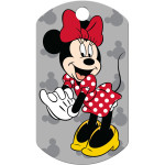 Minnie Mouse Grey Military Quick-Tag