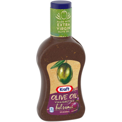 Kraft Olive Oil Vinaigrettes Balsamic Dressing 14 fl oz Bottle