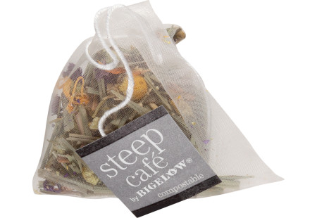 steep cafe by Bigelow full leaf citrus chamomile herbal tea pyramid bag