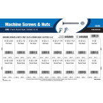 Slotted Flat & Round-Head Zinc Machine Screws and Nuts Assortment (#6-32)