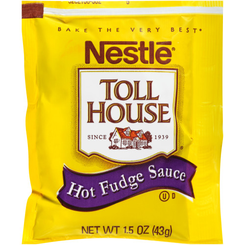 NESTLE Single Serve Hot Fudge Sauce, 1.5 oz. Packets (Pack of 100)