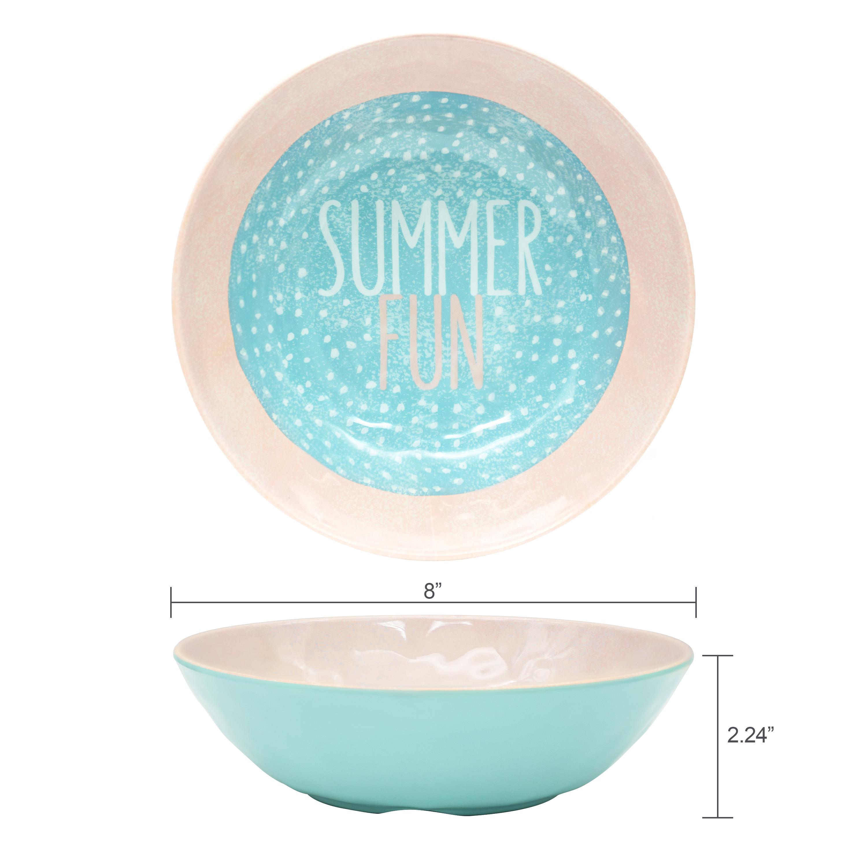 Summer Prints Dinnerware Set, Pink Tropics, 12-piece set slideshow image 4