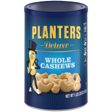 Planters Deluxe Whole Cashews 18.25 oz Canister