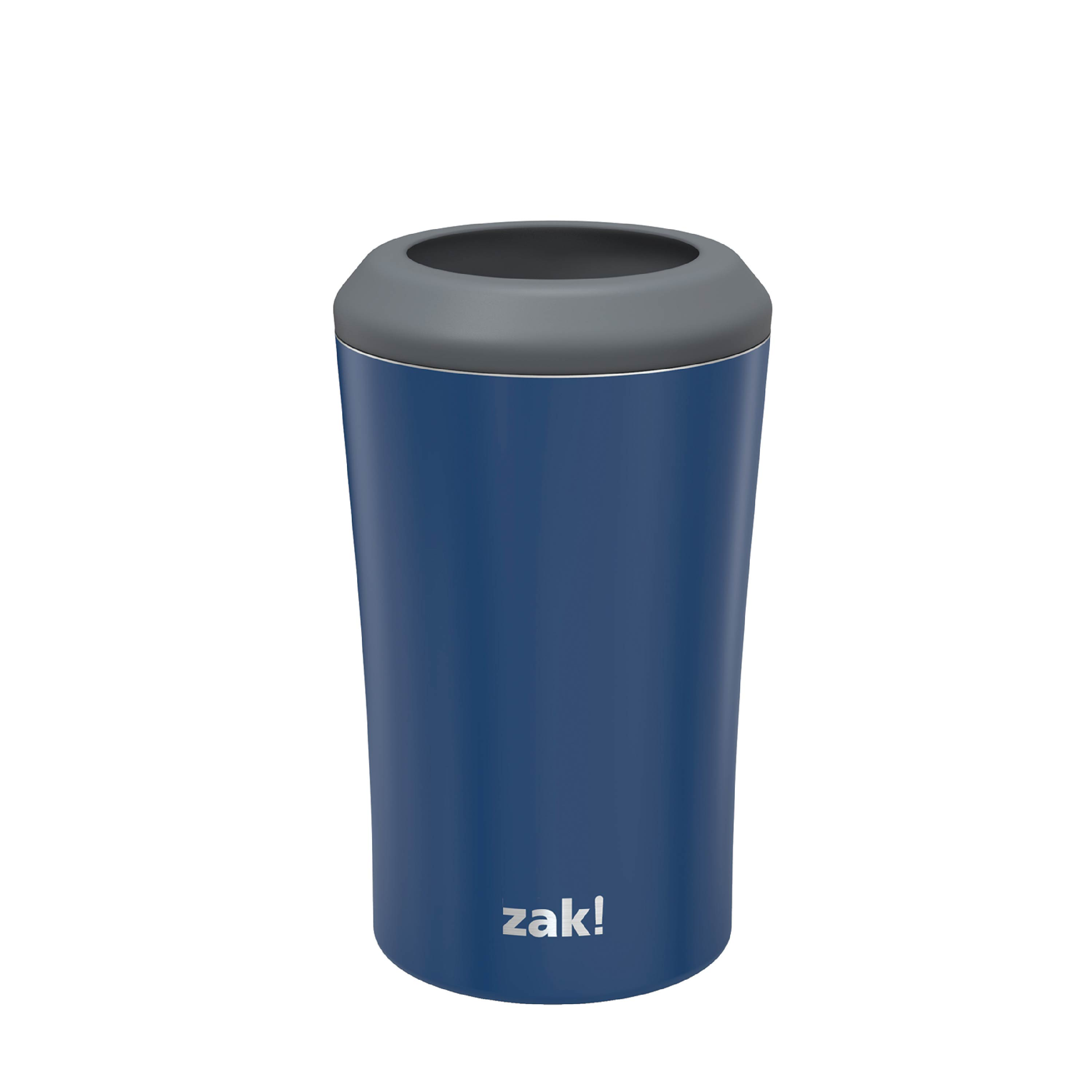 Zak Hydration 12 ounce Double Wall Stainless Steel Can and Bottle Cooler with Vacuum Insulation, Indigo slideshow image 1