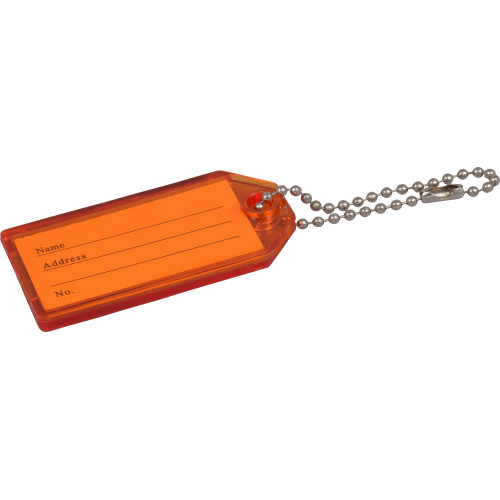 Hard Plastic Key Tag with Chain 2 Pack