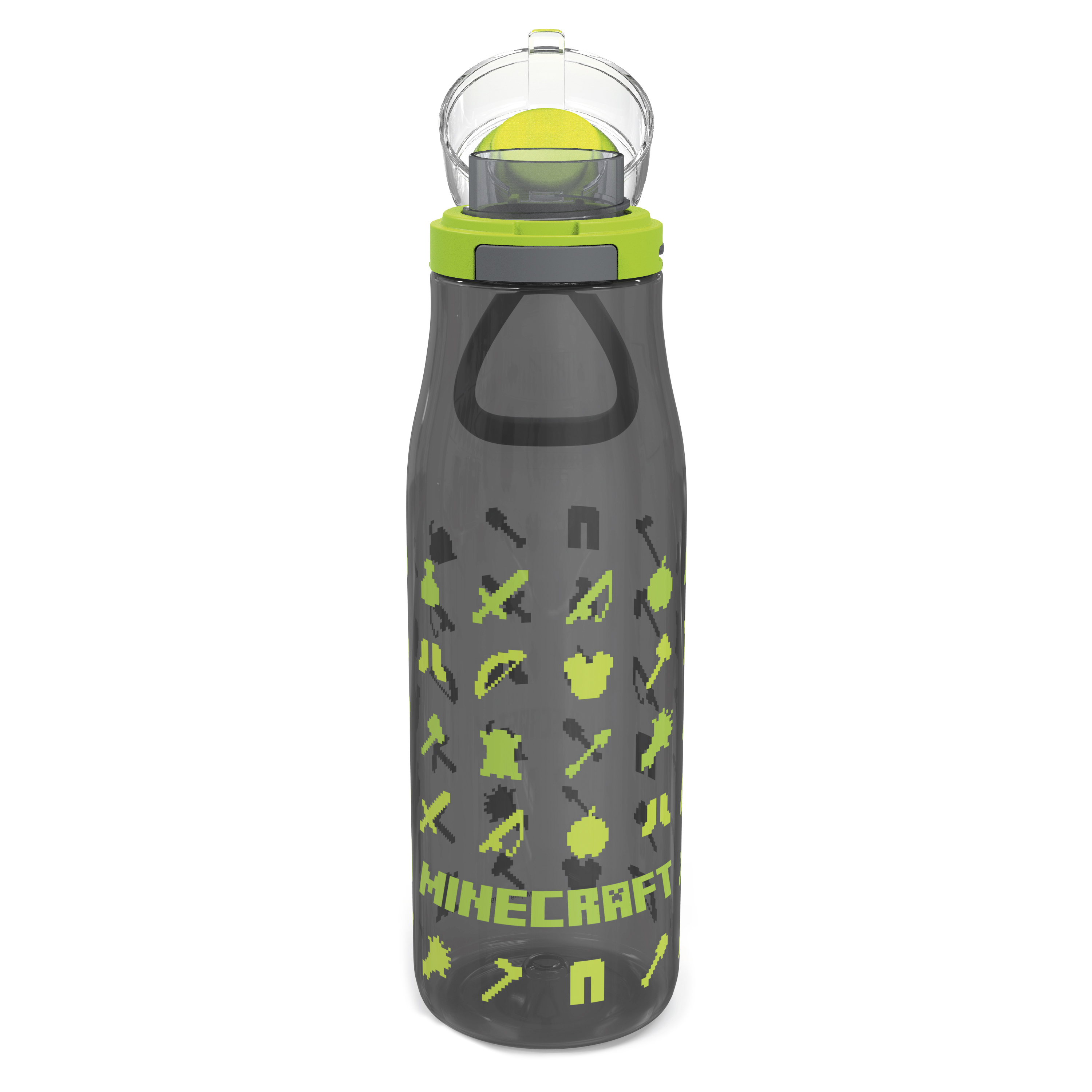 Minecraft 25 ounce Water Bottle and Straws, Weapons and Tools, 3-piece set slideshow image 2