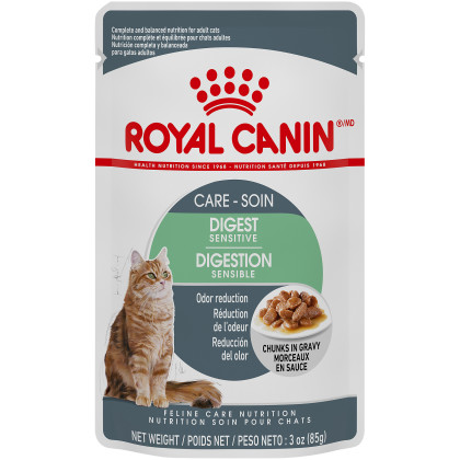 Royal Canin Feline Care Nutrition Digest Sensitive Chunks in Gravy Pouch